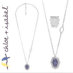 🆕 Modern Mosaic Long Pendant Necklace c+i N418